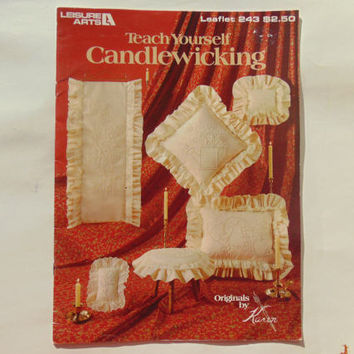 Teach Yourself Candlewicking Leisure Arts Leaflet 243 Full Size Patterns