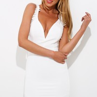 Club Night Dress White