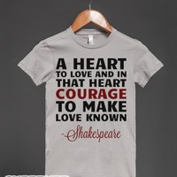 Courage To Make Love Known-Female Silver T-Shirt