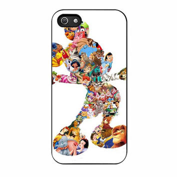 mickey mouse silhouette cases for iphone se 5 5s 5c 4 4s 6 6s plus