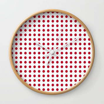 Abstract from the flag of japan – japanese,red,sun,asia,nippon,tokyo,edo,osaka,nagoya,ikebana,noh. Wall Clock by oldking