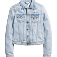 H&M - Denim Jacket - Light denim blue - Ladies
