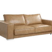 PENLEY SOFA PEANUT TAN LEATHER
