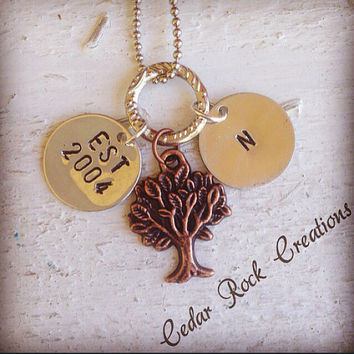 Custom Made Hand Stamped Family Necklace