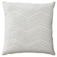 "Room Essentials® Embroidered Chevron Toss Pillow - Cream/Gray (18x18"")"