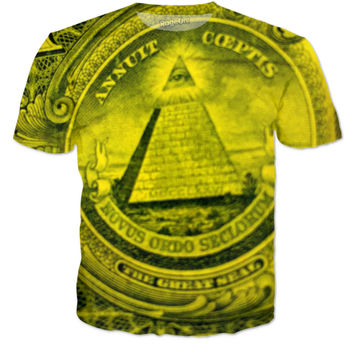 Illuminati Dollar Bill T Shirt