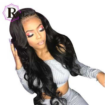 RULINDA Lace Front Human Hair Wigs For Black Women With Baby Hair Brazilian Remy Hair Lace Wigs For Women Pre-Plucked Body Wave