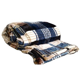 Tache Super Soft Winter Cabin Flannel Polyester Throw Blanket