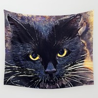 Cat Lucy Wall Tapestry by Jbjart