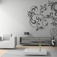 Florals and tribal flowers decals - Abstract Floral - Wall Decals , Home WallArt Decals