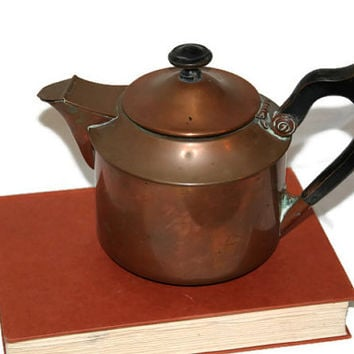 S. Sternau & Co. - Copper Tea Kettle - Solid Copper - Antique Copper Tea Kettle - 3 Pints - New York - Copper Tea Pot - Antique Tea Kettle