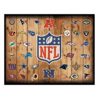 Football Crate Canvas Wall Art