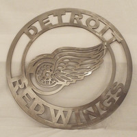 Detroit Red Wings Wall Art, red wings hockey custom design