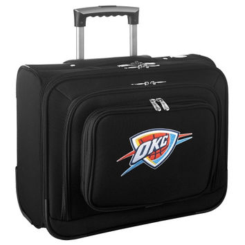 Oklahoma City Thunder Carry-On Rolling Laptop Bag - Black - http://www.shareasale.com/m-pr.cfm?merchantID=7124&userID=1042934&productID=540320826 / Oklahoma City Thunder
