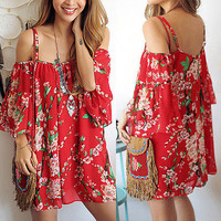 BOHO Casual Sleeveless  Dress