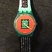 Very Rare Vintage Swatch 1989 Shibuya Rare Collectors Watch  Near Mint! Must See