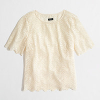 FACTORY SCALLOPED LACE TOP