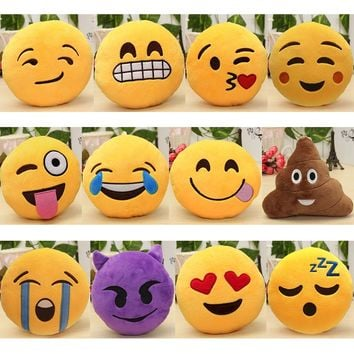 6 Inch Lovely Emoji Smiley Emoticon Pillows Soft Stuffed Plush Cute Cartoon Toy Doll 12 Styles Gift 2018 fashion new