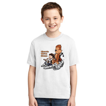 Chewie And Han Calvin And Hobbes Youth T-shirt