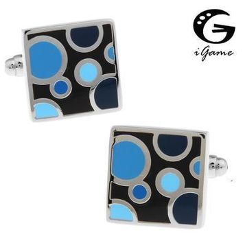 iGame Shirt Cufflinks 3 Colors Option Enamel Water Drop Design Copper Material Free Shipping