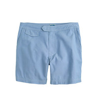 "J.Crew Mens 6.5"" Tab Swim Short In Oxford Cloth"