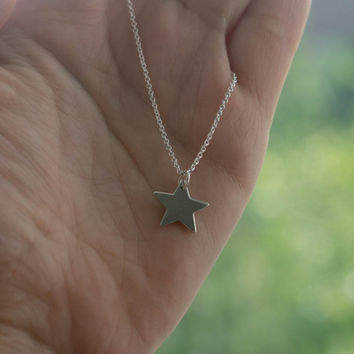 Sterling Silver Star Necklace - Back to School Jewelry . Gift Ideas for Her . Celestial, Galaxy Pendant Necklace . Womens Minimal Jewelry