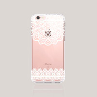 Christmas iPhone Cases Clear Lace iPhone 6S Plus Case Womens Accessories iPhone Case iPhone 6 Case Rubber Galaxy S6 Case Clear White Lace