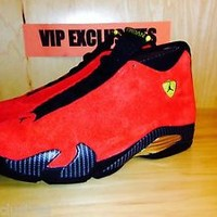 Nike Air Jordan 14 Retro FERRARI Challenge Red/Black-Vibrant Yellow