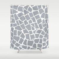 Mosaic Zoom Grey Shower Curtain by Project M | Society6