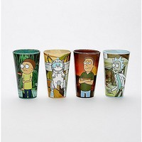 Rick and Morty Pint Glasses 16 oz. - 4 Pack - Spencer's