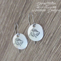 Zodiac Leo Jewelry, Zodiac Earrings, Silver Leo Earrings, Leo Jewelry, Horoscope Earrings, Horoscope Jewelry, Silver Lion Earrings