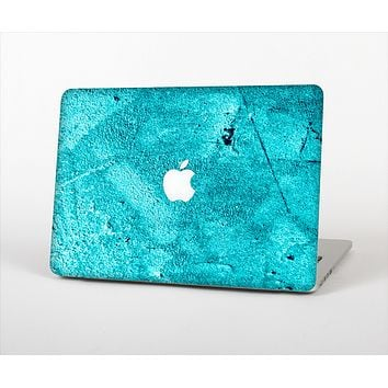 """The Vibrant Blue Cement Texture Skin Set for the Apple MacBook Air 13"""""""