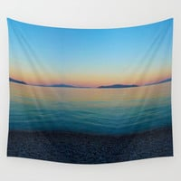 Sunset Greek Island Wall Tapestry by Azima