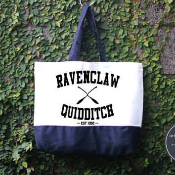 Ravenclaw Quidditch Harry Potter Tote Bag, Handmade Bag, Harry potter Tote Bag, 100% cotton canvas, Canvas tote