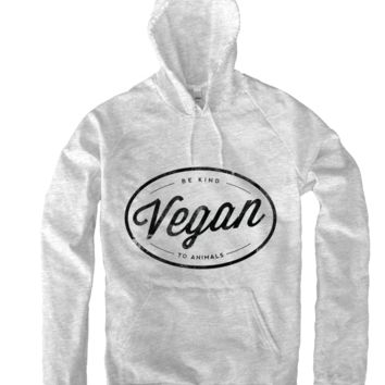Vegan Hoodie in Heather Grey