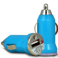 Universal USB Car Charger Adapter - Blue