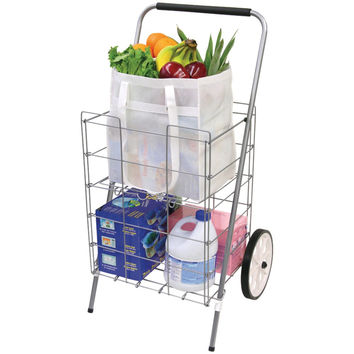 Helping Hand 2-wheel Folding Cart With Folding Shelf