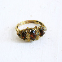 Vintage Avon Royal Occasion Ring Size 7 Adjustable 1973