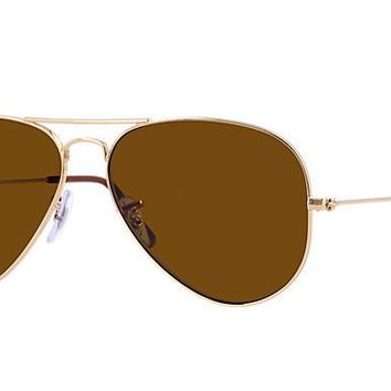 Ray Ban Aviator Sunglass Gold Crystal Brown Polarized RB 3025 001/57