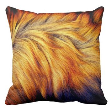 Cool Trendy Brown Horse fur texture design Throw Pillow