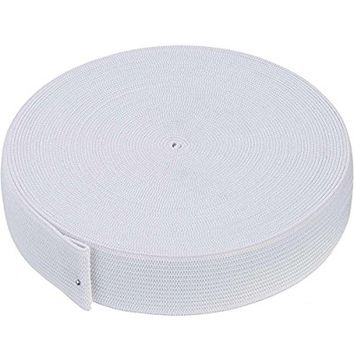 eBoot 11 Yard White Knit Elastic Spool (1 Inch)