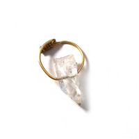 Half Finger Crystal Child Ring