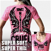 Cruel Intensions-118 (SuperSoft/Thin): Hot Pink Bodybuilding, Powerlifting, Weightlifting and Workout Clothing [W-TEE-118-PK] - $29.99 : Monsta Clothing Co, Bodybuilding Clothing, Powerlifting Apparel, Weightlifting Shirts, Workout Clothes and MORE
