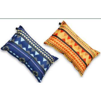 South Korea Style nationalwind cloth inflatable pillow outdoor leisure pillow