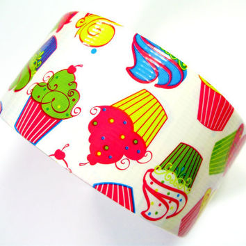 Cupcake Duct Tape - One Roll of Colorful Duck Brand Tape