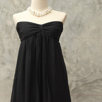 Black Soft Crape dress/ size 2-8