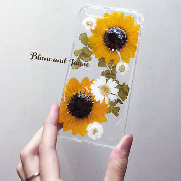 Taste of summer, Pressed flower phone case, pressed flower iphone case, Dried flower case, iphone 6s plus case, Flower samsung case gift