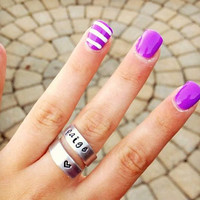 Hand Stamped, Personalized, Wrap Ring