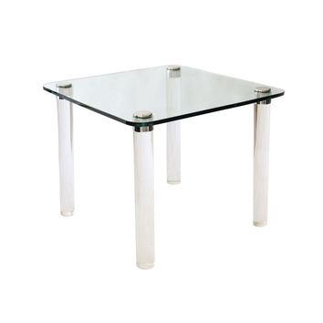 Pre-owned Pace Lucite and Glass Table