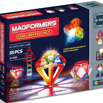 Magformers 55 Pcs Magnetic Lighted Show Construction Set